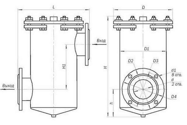 Размеры сепараторов магнитных ФММ-26, ФММ-27