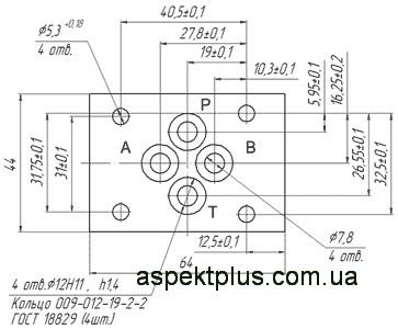 Габаритные и присоединительные размеры ВЕ6 574А (РЕ6 3 574 А)