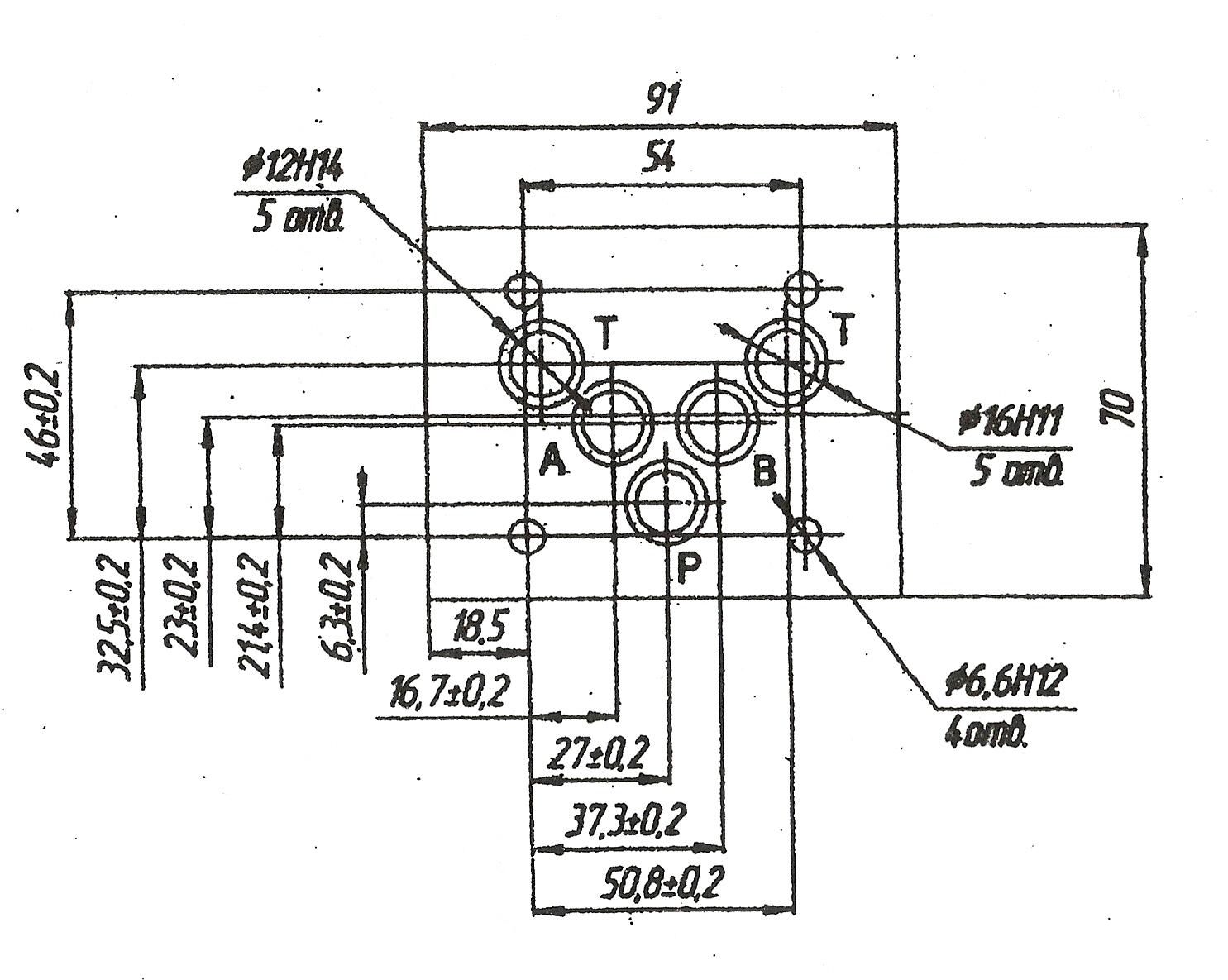 Присоединительные размеры 1РМР10-574A (ВМР10-574A), 1РМР574AФ (ВМР10-574AФ)
