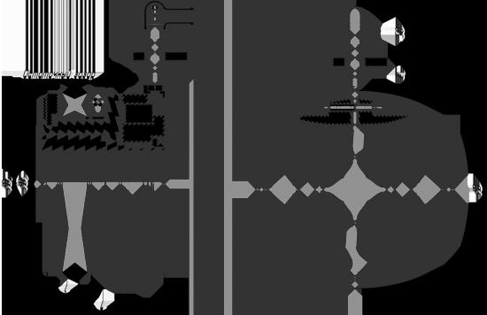 Габаритные размеры, характеристики муфт ЭТМ 051, ЭТМ 091, ЭТМ 101