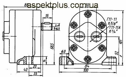 Размеры насосов Г11-11(А)