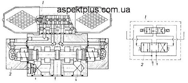 Конструкция и принцип действия гидрораспределителя ПГ-73-24 (на примере 44ПГ73-24)