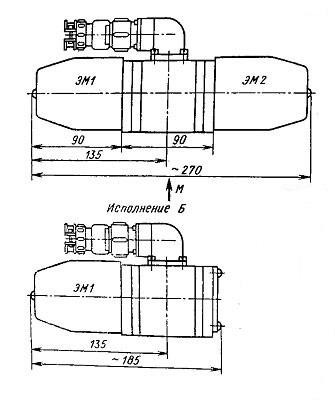 Габаритные и присоединительные размеры распределителей ПГ73-11