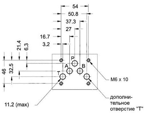 Монтажная поверхность распределителей ВММ10