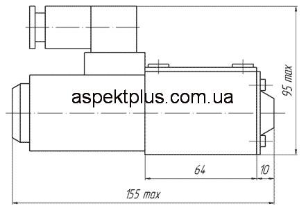 Габаритные и присоединительные размеры гидрораспределителей ВЕ6