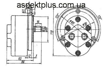 Размеры насосов АГ11-11(А)