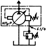 Гидросхема насосов пластинчатых регулируемых НПлР