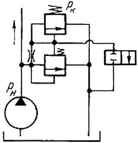Схема применения клапанов Г52-2, ПГ52-2