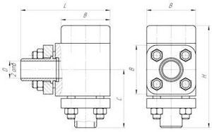 Габаритные и присоединительные размеры (мм) гидроклапанов Г51-31, Г51-32, Г51-33, Г51-34, Г51-35, Г51-36